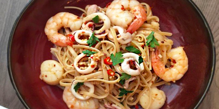 Seafood Aglio Olio from Benjamin Browns in Orchard, Singapore