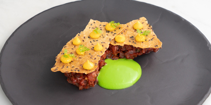 Yellow Fin Tuna Tartare from Water Library Brasserie @ Central Embassy atCentral Embassy 1031 Phloen Chit Rd Pathum Wan, Khet Pathum Wan Bangkok