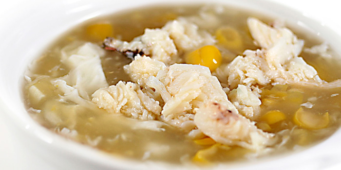 Sweet Corn and Crab Meat Soup at Seafood House, Bali