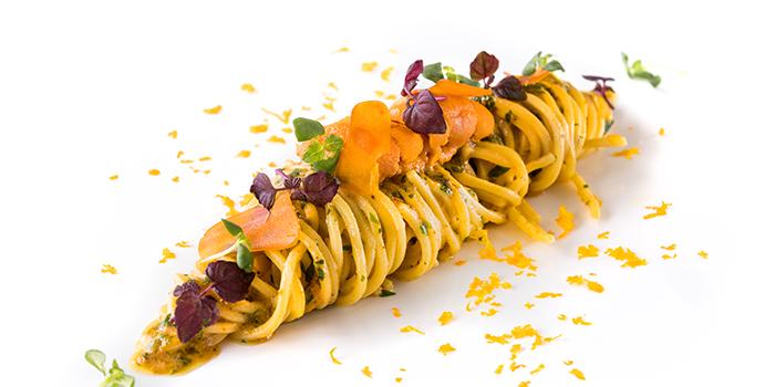 Hokkaido Sea Urchin Spaghetti Sardinia Bottarga Yuzu Juice from il Cielo at Hilton Singapore in Orchard, Singapore