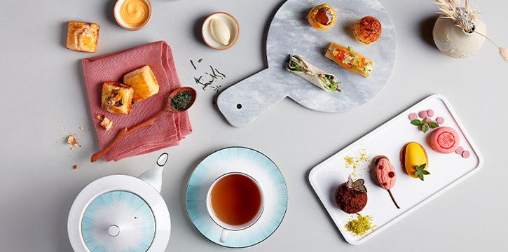 High Tea Food Spread from SKAI Restaurant at Swissotel the Stamford in City Hall, Singapore