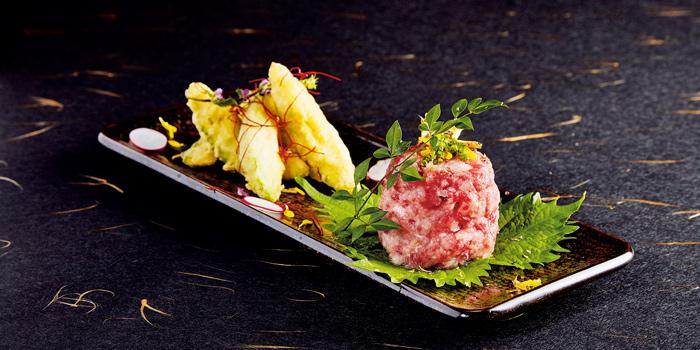 Avocado Tempura with Tuna Belly Tartar, Sushi Kin, Causeway Bay, Hong Kong