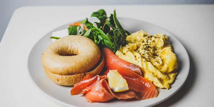 Bagel with Scrambled Eggs from Group Therapy Coffee in Duxton, Singapore