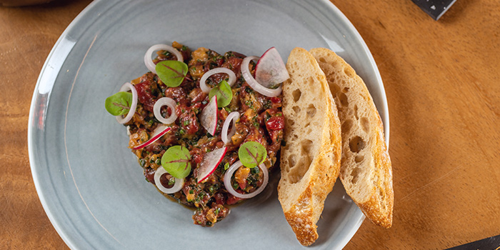 Beef Tartare from Cavemen Restaurant & Bar in Balestier, Singapore