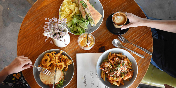 Food Spread from Wildseed Cafe in Seletar, Singapore