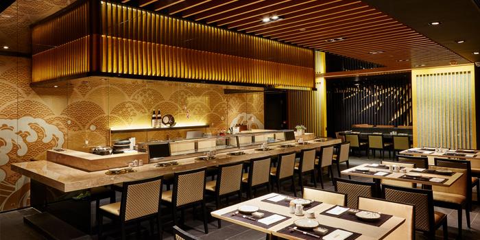 Dining Area, Sushi Kin, Causeway Bay, Hong Kong