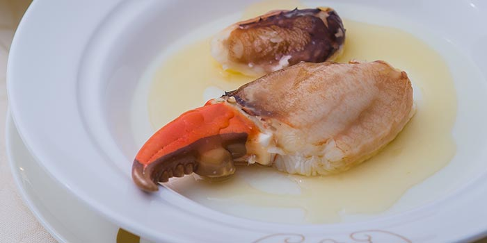 Steamed Crab Claws with Egg White and Huadiao Wine, Fook Lam Moon (Hong Kong), Wan Chai, Hong Kong