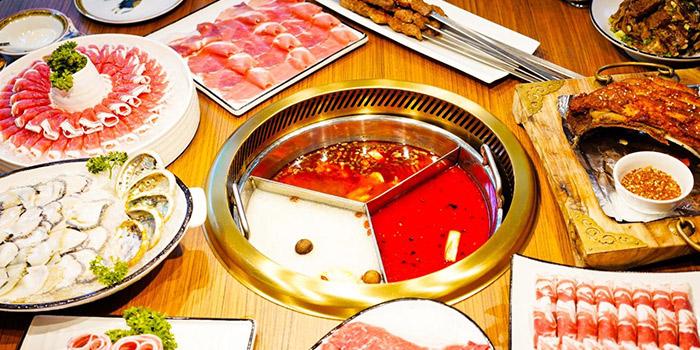 Food Spread from Little Lamb Hotpot (小尾羊) at Sky Garden Suntec City Mall in Promenade, Singapore