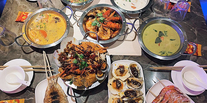 Food Spread from Thai Tanic Hotpot in Outram, Singapore