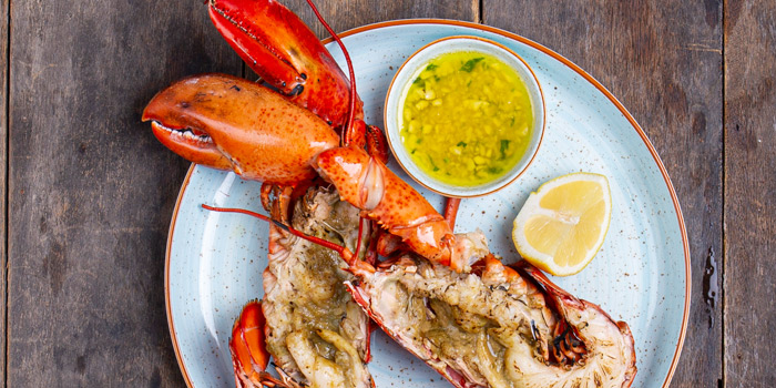 Grilled-Lobster-with-Lemon-&-Garlic-Butter from The Dock at The Maze Thonglor, Bangkok