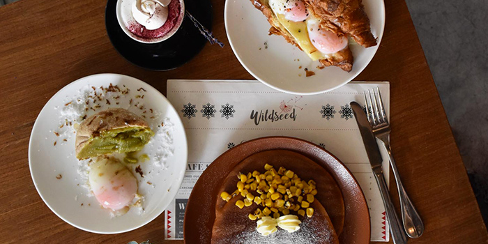 Food Selection from Wildseed Cafe in Seletar, Singapore