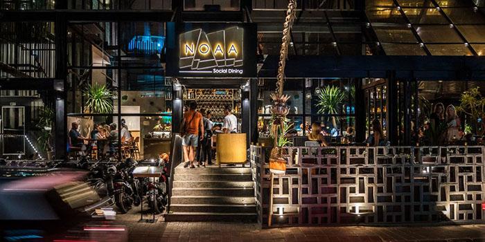 Exterior from NOAA Social Dining, Seminyak, Bali