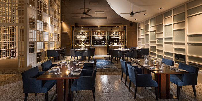 Interior of il Cielo at Hilton Singapore in Orchard, Singapore