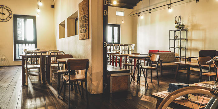 Interior of Group Therapy Coffee in Duxton, Singapore