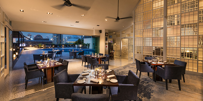 Dining Room with a View from il Cielo at Hilton Singapore in Orchard, Singapore