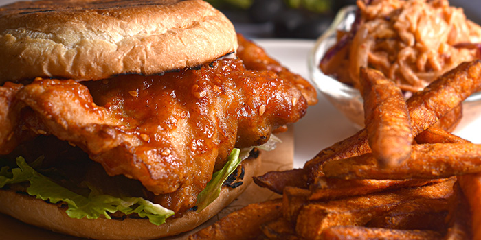 Korean Fried Chicken Sandwich from Halcyon & Crane at Paragon Shopping Centre in Orchard, Singapore