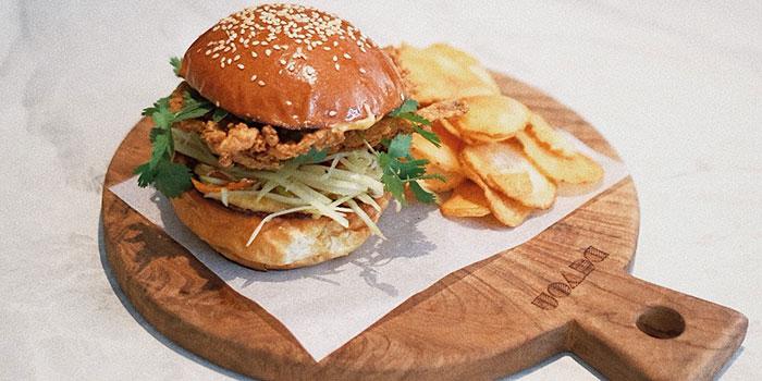 Mr. Krab Burger at Devon Cafe