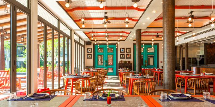 Restaurant Atmosphere of Baba Beach Club of Sripanwa in Natai, Phangnga, Thailand