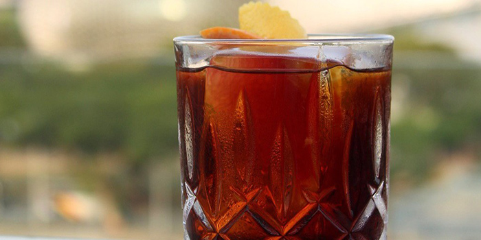 Orient Negroni from Aura at National Gallery Singapore in City Hall, Singapore
