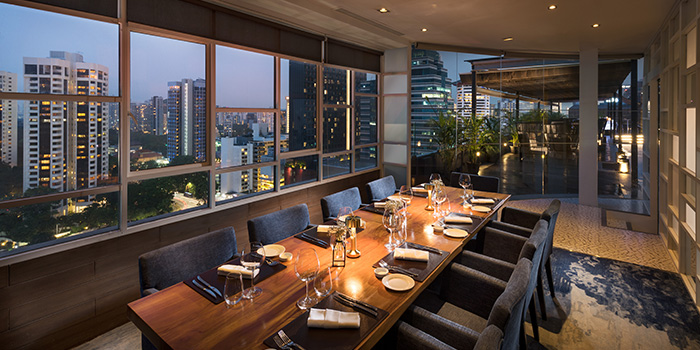 Private Dining Room from il Cielo at Hilton Singapore in Orchard, Singapore