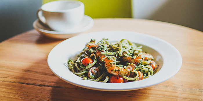 Pesto Prawn Pasta from Group Therapy Coffee in Duxton, Singapore