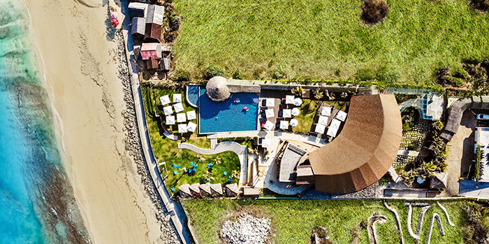 Aerial View from Roosterfish Beach Club at Uluwatu, Bali