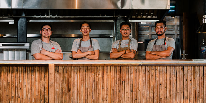 Crew from Roosterfish Beach Club at Uluwatu, Bali