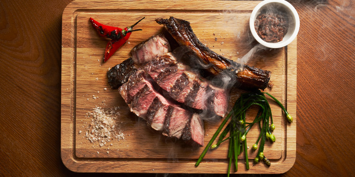 Australian Bone in Ribeye from 15 Stamford by Alvin Leung at The Capitol Kempinski Hotel in City Hall, Singapore