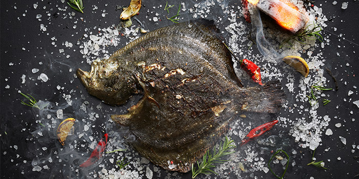 Charcoal Grilled Turbot from 15 Stamford by Alvin Leung at The Capitol Kempinski Hotel in City Hall, Singapore