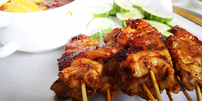 Tiong Bahru Satay from 195 Pearl Hill Café in Chinatown, Singapore