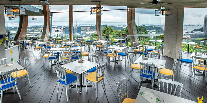 Al Fresco Seating Area of Arbora (formerly Spuds & Aprons) at Faber Peak Singapore in Harbourfront, Singapore