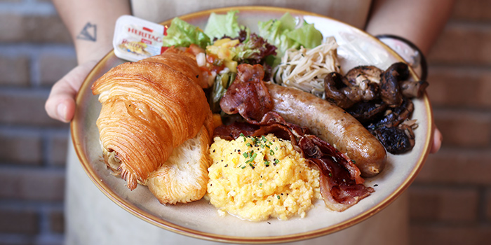 Big Breakfast from Bread Yard at Galaxis in Buona Vista, Singapore