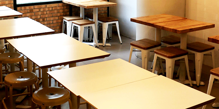 Table Seating of Bread Yard at Galaxis in Buona Vista, Singapore