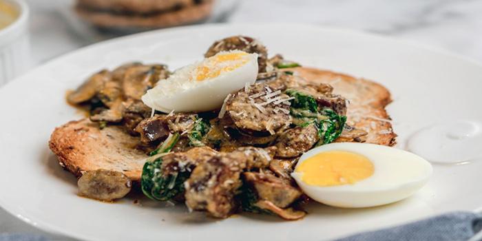 Chorizo & Mushroom on Toast from Cafe Manuka at Paragon in Orchard, Singapore