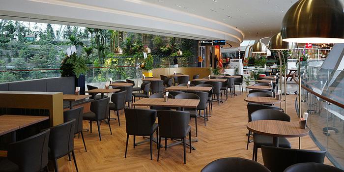 Interior of Café Morozoff (Jewel) at Jewel Changi Airport in Changi, Singapore