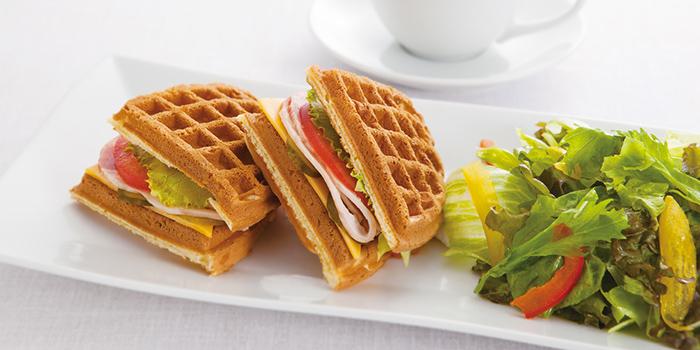 Waffle Sandwich Set from Café Morozoff (Jewel) at Jewel Changi Airport in Changi, Singapore