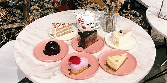 Assortment Of Cakes from Cafe de Paris at 313@Somerset in Orchard, Singapore