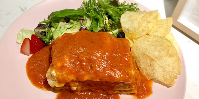 Lasagne from Cafe de Paris at 313@Somerset in Orchard, Singapore