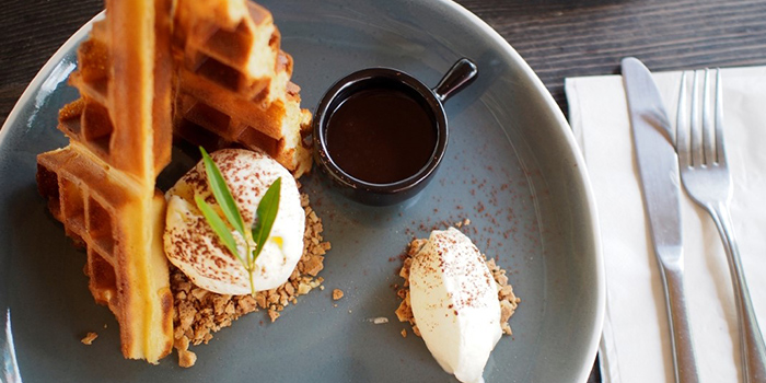 B&B Waffles from Communal Coffee in Dhoby Ghaut, Singapore