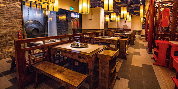 Interior of Da Long Yi Hot Pot at Orchard Central in Orchard, Singapore