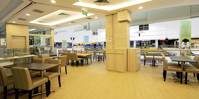 Interior of Isuramuya Japanese Restaurant and Marketplace at JCube in Jurong, Singapore