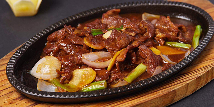 Hotplate Beef from Lao Hero Kitchen in Seletar, Singapore
