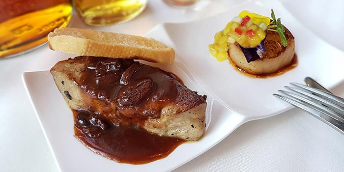Foie Gras and Hokkaido Scallops from Lawry