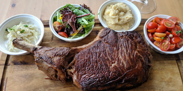 120 day Black Angus Tomahawk from Micasa Kitchen & Bar in Jurong, Singapore