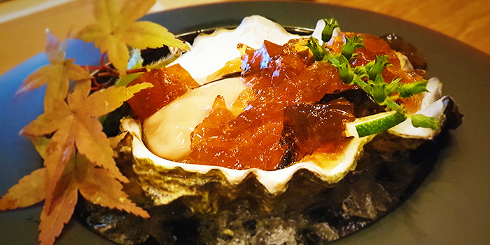 Oyster with Ponzu Jelly from Naga Imo in Telok Ayer, Singapore