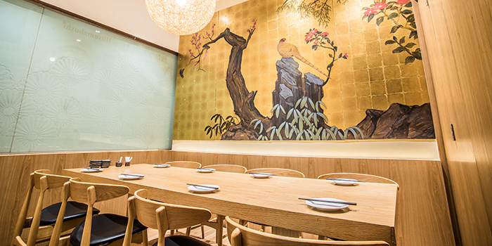 Interior of Sho Yakitori & Sushi at Millenia Walk in Promenade, Singapore