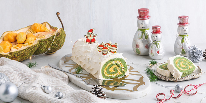 Festive Cempedak Log Cake (29 Nov to 29 Dec) from Sky22 at Courtyard by Marriott Singapore Novena in Novena, Singapore
