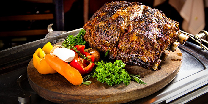 US Roast Prime Rib of Beef on Silver Wagon from The Tavern Restaurant in River Valley, Singapore