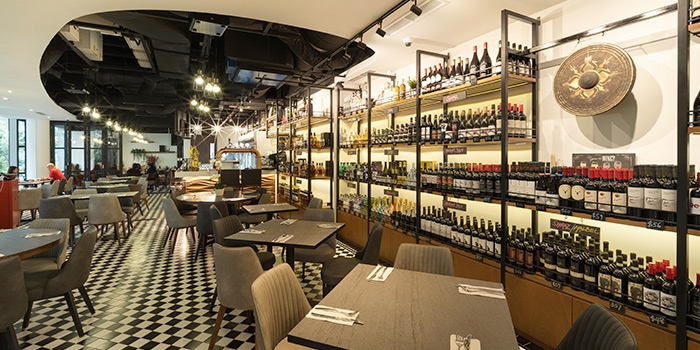 Interior of The Gong by Drinks&Co. at Duo Galleria in Bugis, Singapore