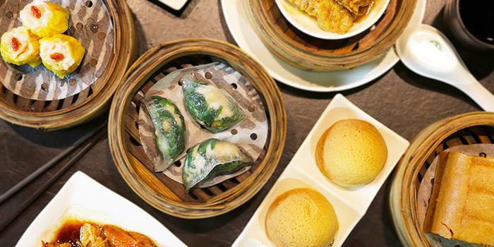 Food Spread from Tim Ho Wan (Marina Bay Sands) at The Shoppes at Marina Bay Sands in Marina Bay, Singapore